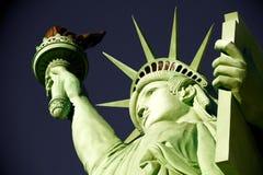 Close-up van het Standbeeld van Vrijheid wordt geschoten die stock afbeelding