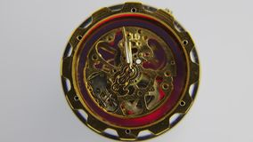 Close-up van het werk uurwerk stock videobeelden