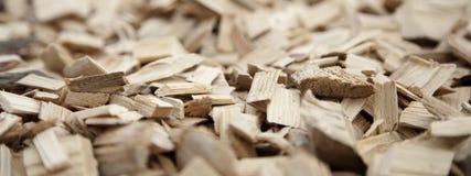 Close-up van houten spaanders Stock Afbeeldingen
