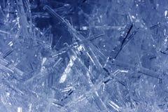 Close-up van ijskristallen stock foto