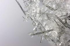 Close-up van ijskristallen stock afbeelding