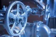 Close-up van industriële poortklep Stock Afbeeldingen