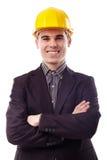 Close-up van jonge ingenieur Stock Foto