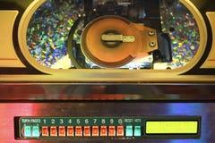 Close-up van juke-box. royalty-vrije stock afbeelding