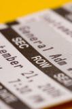 Close-up van kaartje Royalty-vrije Stock Foto