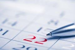 Close-up van kalenderpagina Royalty-vrije Stock Foto's