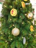 Close-up van Kerstboomachtergrond stock foto's