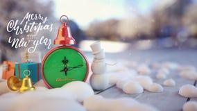 Close-up van Kerstmisachtergrond Stock Afbeeldingen