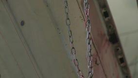 Close-up van Ketting het Hangen stock video