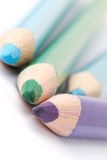 Close-up van kleurpotloden Royalty-vrije Stock Foto's