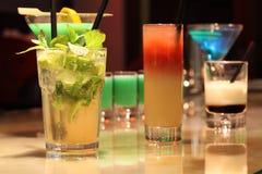 Kleurrijke cocktails Royalty-vrije Stock Foto