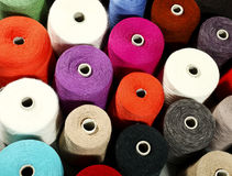 Close-up van kleurrijke draden Royalty-vrije Stock Foto's