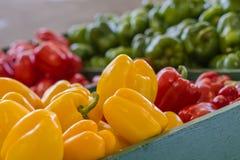 Close-up van Kleurrijke Groene paprika's Royalty-vrije Stock Afbeelding