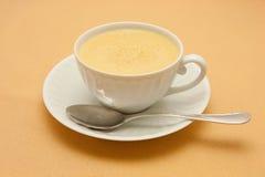 Close-up van koffie met melk Royalty-vrije Stock Afbeelding