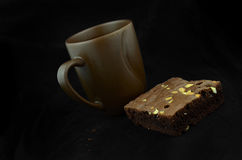 Close-up van koffiekop en brownies Stock Afbeelding