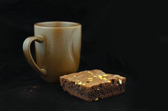 Close-up van koffiekop en brownies Royalty-vrije Stock Afbeeldingen