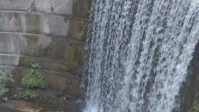 Close-up van Kunstmatige Waterval in Rhodos, Epta Piges stock video