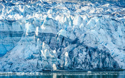 Close-up van Margerie Glacier in Alaska Stock Afbeeldingen