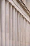 Close-up van marmeren Stoa van Attalos-colonnade Stock Fotografie