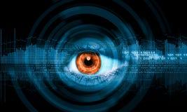 Close-up van menselijk oog royalty-vrije stock foto