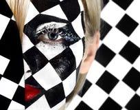 Close-up van model met een schaakraad Stock Afbeelding