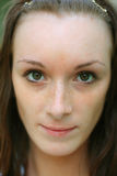 Close-up van mooi gezicht Stock Afbeeldingen