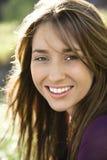 Close-up van mooie vrouw. stock afbeelding
