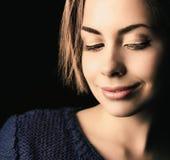 Close-up van mooie vrouw Royalty-vrije Stock Foto
