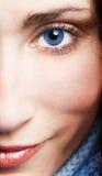 Close-up van mooie vrouw Royalty-vrije Stock Afbeeldingen