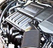 Close-up van motor van een auto Stock Afbeeldingen
