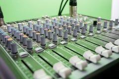 Close-up van Muziekmixer Royalty-vrije Stock Afbeelding