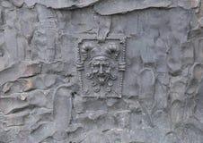 Close-up van nar, Vrijheidsbeeldhouwwerk, door Zenos Frudakis, Philadelphia Royalty-vrije Stock Foto