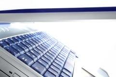 Close-up van notitieboekje/laptop stock fotografie