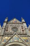 Close-up van Orvieto-kathedraal, Umbrië, Italië royalty-vrije stock foto