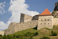 Close-up van Oud versterkt Fort in Transsylvanië Roemenië royalty-vrije stock afbeeldingen