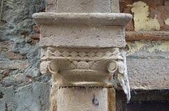 Close-up van Oude Kolom Royalty-vrije Stock Foto's