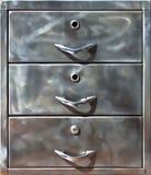Close-up van oude metaalkast Royalty-vrije Stock Fotografie