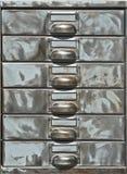 Close-up van oude metaalkast Royalty-vrije Stock Foto's