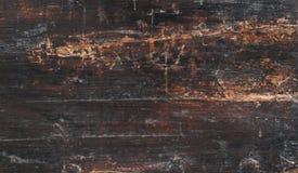 Close-up van oude natuurlijke houten grungetextuur Donkere oppervlakte met ol Stock Afbeelding