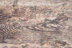 Close-up van oude natuurlijke houten grungetextuur Donkere oppervlakte met ol Stock Foto
