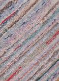 Close-up van oude uitgeputte voddendeken Stock Fotografie