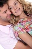 Close-up van paar in liefde Royalty-vrije Stock Foto