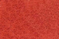 Close-up van Rode synthetische vezelige oppervlakte stock afbeelding