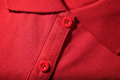 Close-up van rode t-shirt Royalty-vrije Stock Foto's