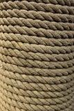 Close-up van Roped die rond zich het Opstapelen wordt verpakt Royalty-vrije Stock Afbeeldingen