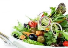 Close-up van salade Royalty-vrije Stock Foto's