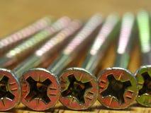 Close-up van schroefhoofden Royalty-vrije Stock Afbeeldingen