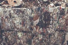 Close-up van schrootbalen Stock Afbeeldingen