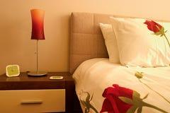Close-up van slaapkamer Royalty-vrije Stock Afbeelding