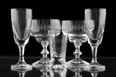 Close-up van sommige glazen Stock Fotografie